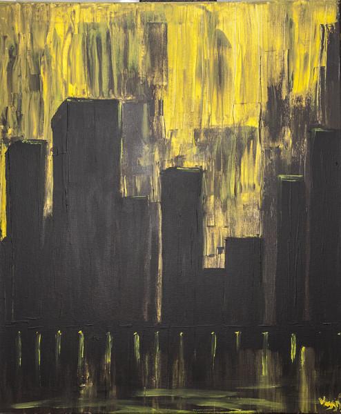 Κιτρινη Βροχη 50χ60 Acrilic